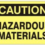 sign for caution hazmat