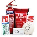 fire safety gear smoke detector carbon monoxide alarm fire extinguisher