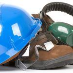 safety gear e.g. hard hat, work boots, ear protectors