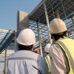 safety inspector assesses ontario construction project