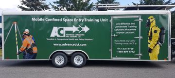 ACT mobile confined space entry training trailer