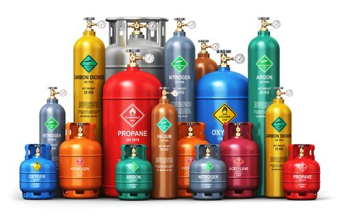 various compressed gas canisters containers
