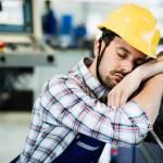 poor sleep has worker tired and asleep on job