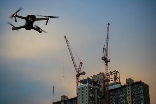 drone used to survey job site