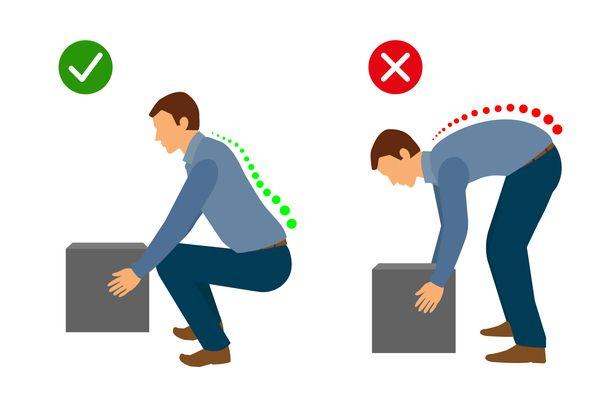 right & wrong ways of lifting