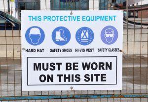 proper signage at work site