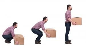 how to lift boxed properly