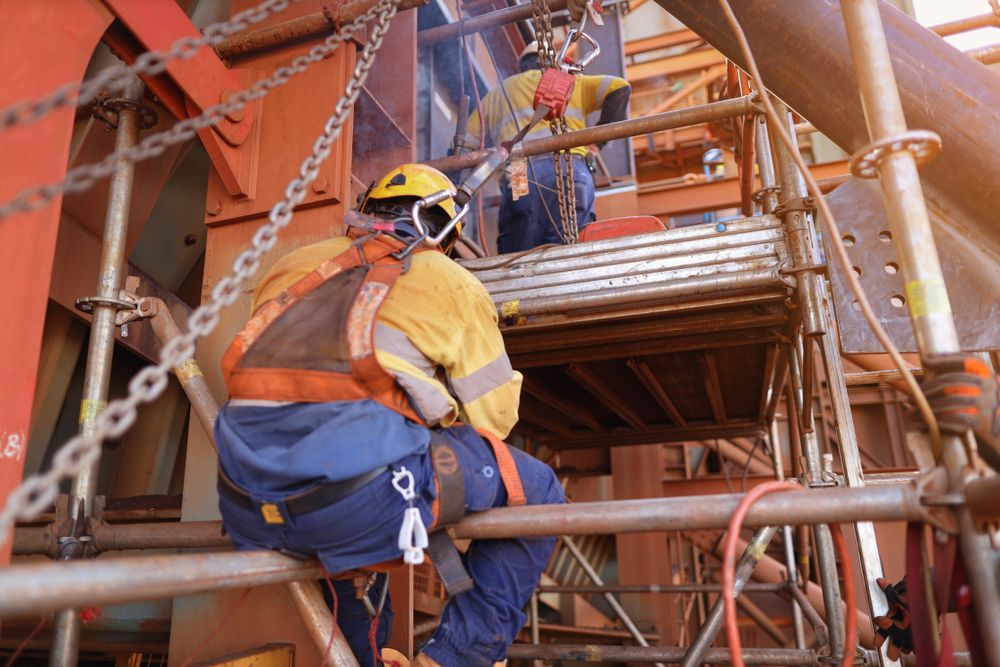 worker not falling from heights