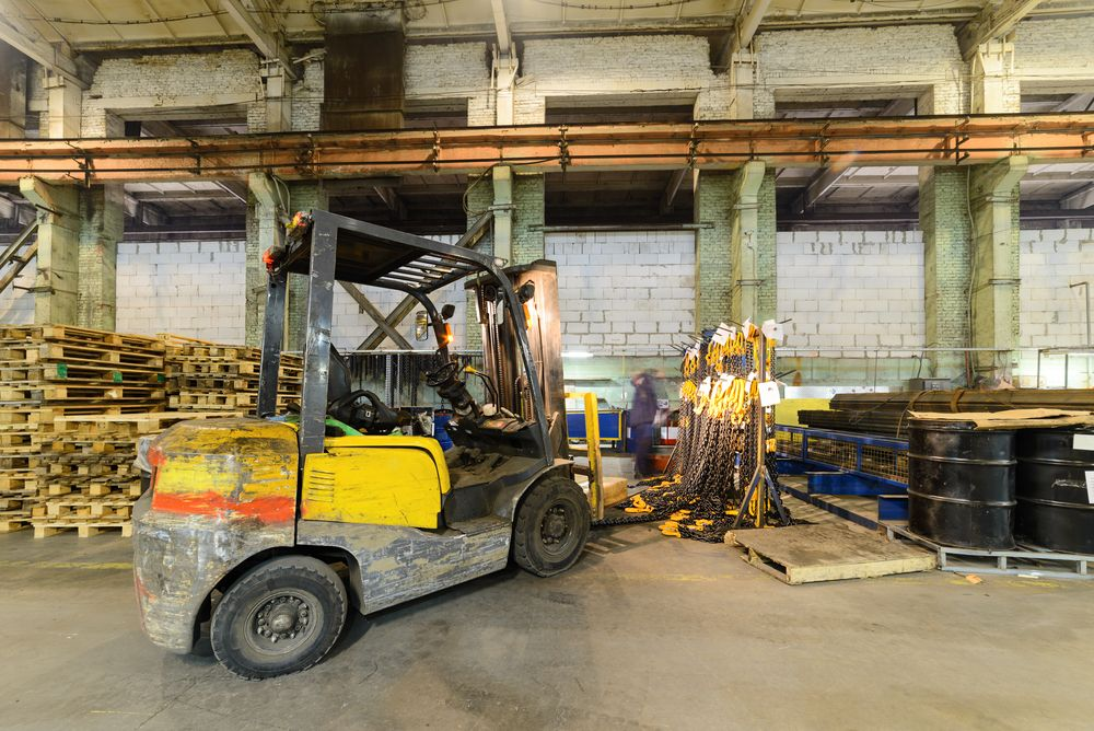 forklift in warehouse materials handling