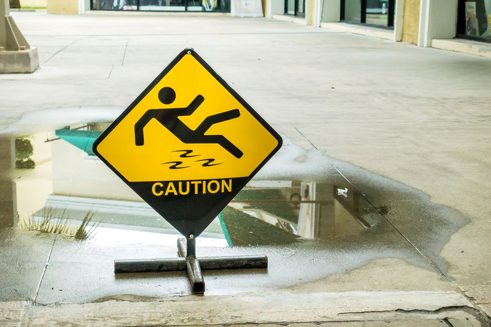 caution sign prevents injuries