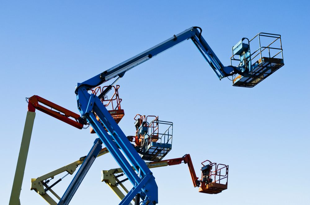 aerial lifts working at heights