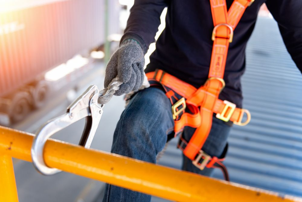 working at heights with fall protection