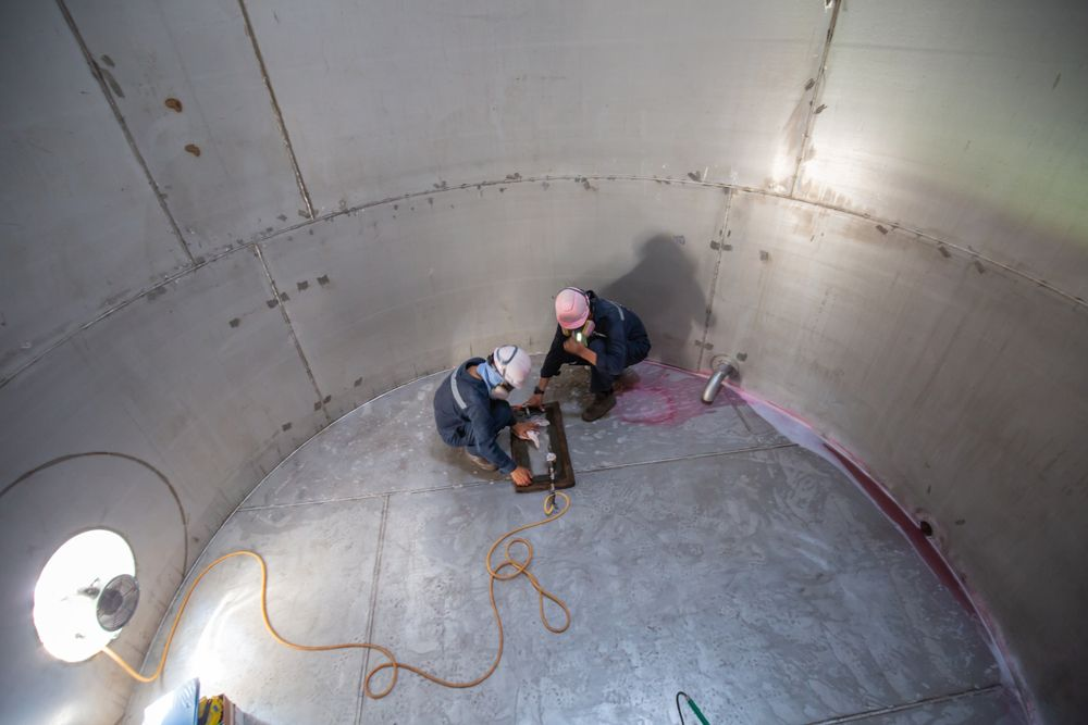 confined space at reservoir