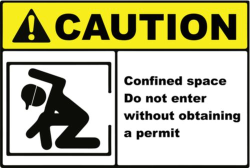 confined space entry sign