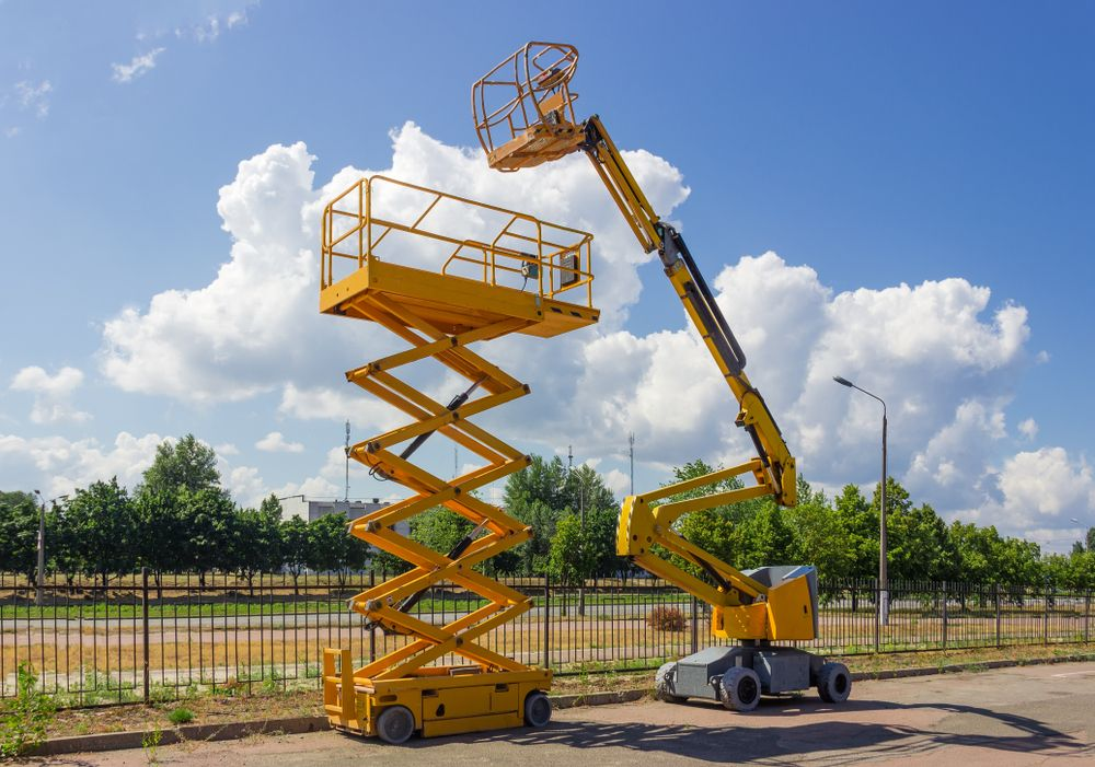 scissor lift and boom lift