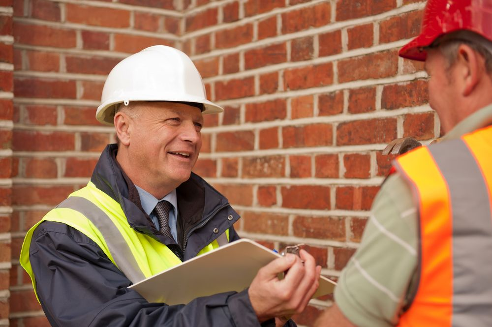 health & safety inspector at job site