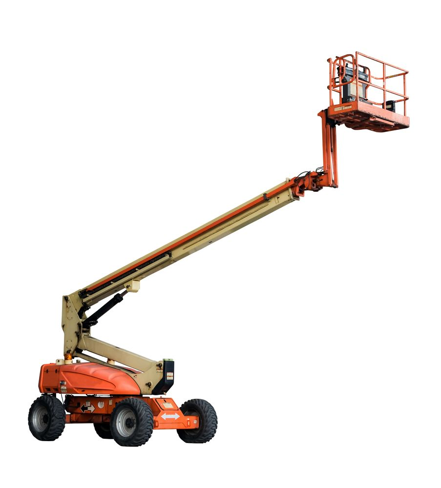 boom lift at elevation
