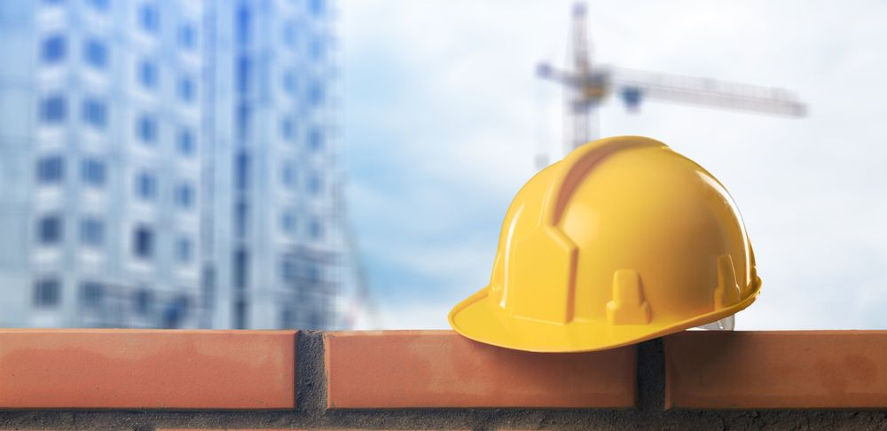 hard hat at construction site