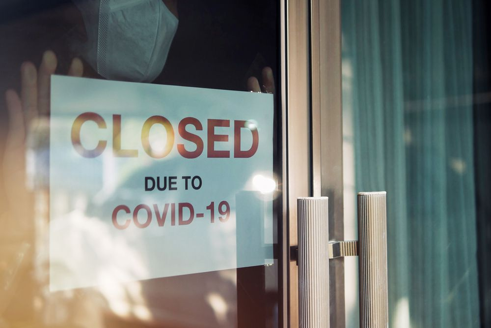empty store in covid lockdown