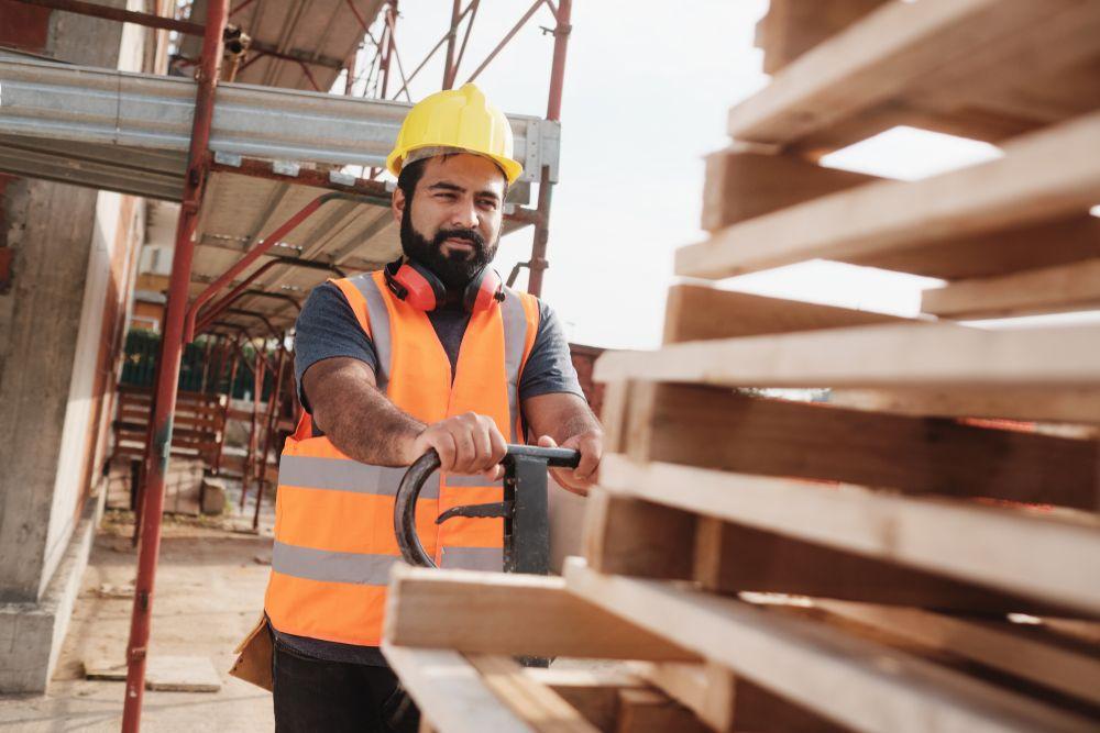 material handling man at worksite