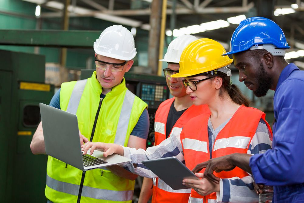 employees working together to promote a safe workplace